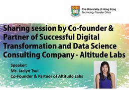 Sharing Session by Co-founder & Partner of Successful Digital Transformation and Data Science Consulting Company - Altitude Labs
