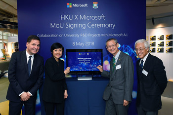 HKU and Microsoft Hong Kong join hands to embrace Artificial Intelligence in multi-disciplinary research
