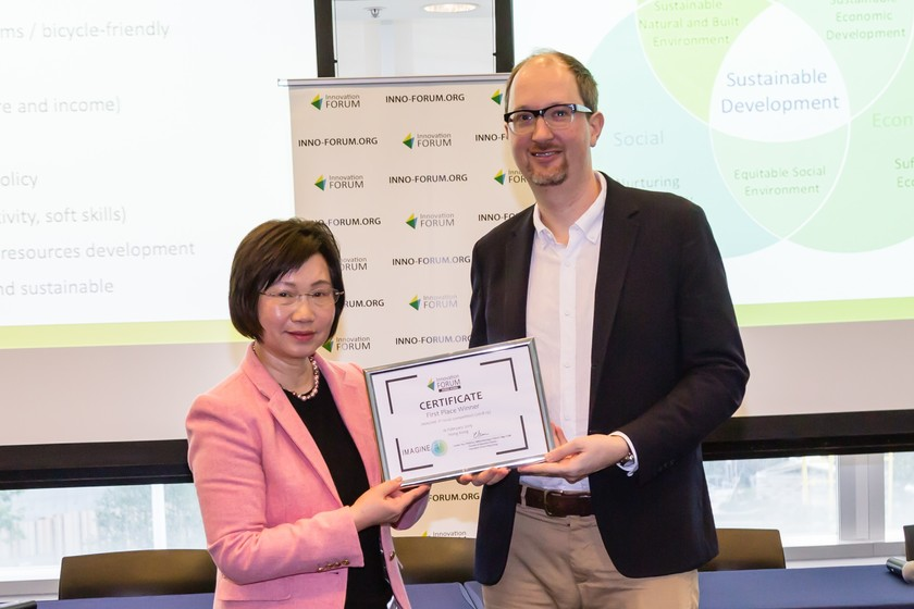 HKU start-up wins championship at the Hong Kong finals of the IMAGINE IF! Competition gallery photo 1