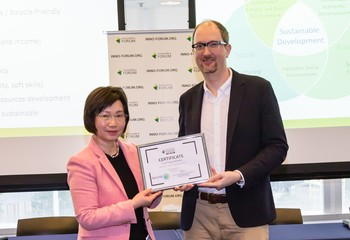 HKU start-up wins championship at the Hong Kong finals of the IMAGINE IF! Competition