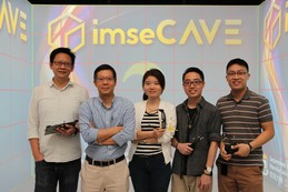 Dr Henry Lau (second from left) and other members of imseCAVE team
